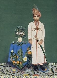 Kumar Mormukut Singh of Isarda (Son of the Raja and Rani of Isarda) at the time of his adoption as the Heir to Jaipur on 24th March 1921.