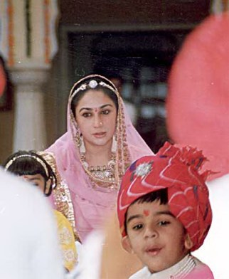 Princess Diya Kumari and her son the new Yuvraj of Jaipur, Prince Padmanabh