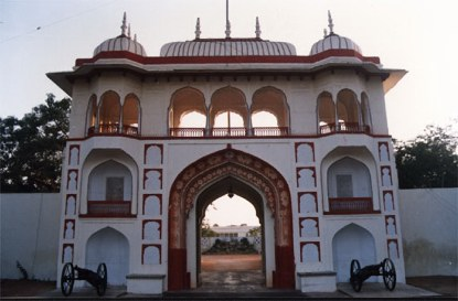 Raj Mahal Gateway. Copyright©  of the photograph is property of the Royal Family of Jaipur. All rights are resevered.