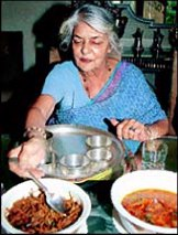 The Rajmata Dining at her home the Lilypool.